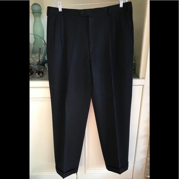 e4f2883b42 Zanella Alter 38 x 32 Navy Blue pleat cuff pants